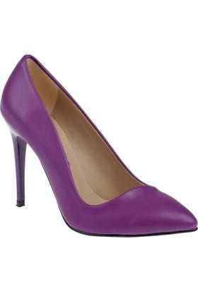 Shalin Stiletto Kadın Ayakkabı Hsk 79 Mor