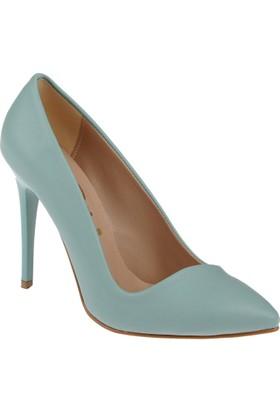 Shalin Stiletto Kadın Ayakkabı Hsk 79 Su Yeşili