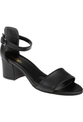 Shalin Kadın Sandalet Bşk 1026 Siyah Mat