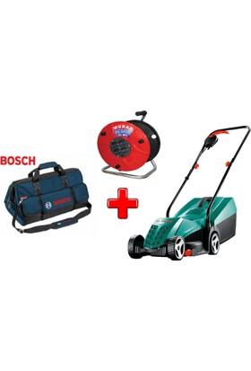 Bosch ARM 32 Elektrikli Çim Biçme Makinesi + Murat Makaralı Kablo 25Metre