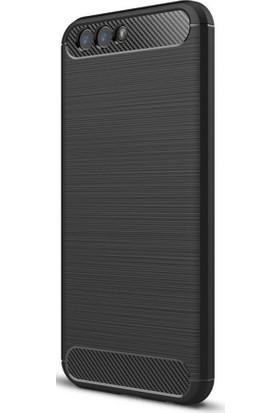 Microcase Asus Zenfone 4 ZE554KL Brushed Carbon Silikon Kılıf + Tempered Cam