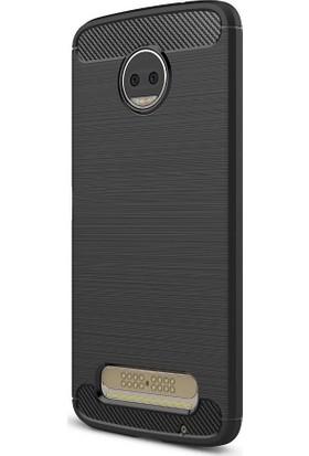 Microcase Motorola Moto Z2 Force Brushed Carbon Silikon Kılıf