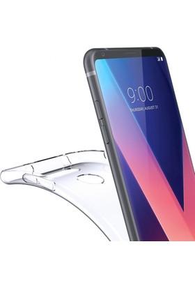 Microcase LG V30 Ultra İnce 0.2 Mm Soft Silikon Kılıf + Tempered Cam