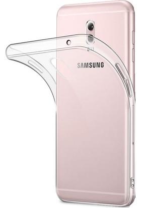 Microcase Samsung Galaxy C8 İnce Silikon Kılıf + Tempered Glass