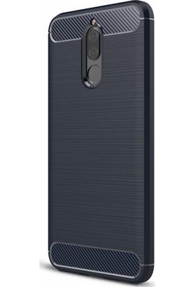 Microcase Huawei Mate 10 Lite Brushed Carbon Silikon + Tempered Cam