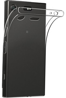 Microcase Sony Xperia XZ1 Ultra İnce Soft Silikon TPU Kılıf + Tempered Cam