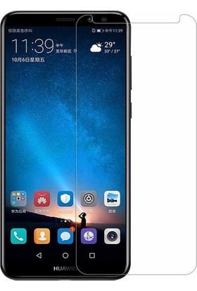 Microcase Huawei Mate 10 Lite Tam Kaplayan Tempered Glass Cam Koruma