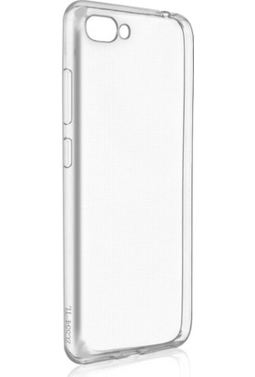 Microcase Asus Zenfone 4 Max ZC554KL Ultra İnce 0.2 mm Silikon Kılıf + Nano Glass Film