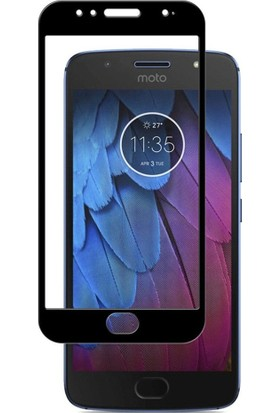 Microcase Motorola Moto G5S Tam Kaplayan Tempered Glass Cam Koruma