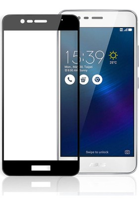 Microcase Asus Zenfone 3 Max ZC520TL 5.2 İnch Tam Kaplayan Tempered Cam Koruma