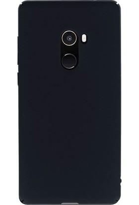 Microcase Xiaomi Mi Mix 2 Sert Slim Rubber Kılıf + Tempered Cam