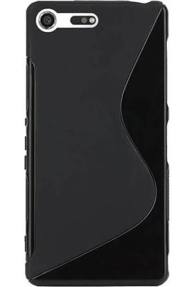 Microcase Sony Xperia XZ Premium Sline Soft Silikon TPU Kılıf + Tempered Cam