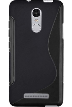 Microcase Xiaomi Redmi Note 3 Sline Soft Elastik Silikon TPU Kılıf + Tempered Cam