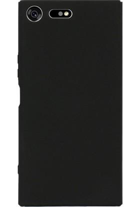 Microcase Sony Xperia XZ1 Sert Slim Rubber Kılıf + Tempered Cam