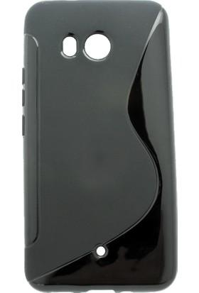 Microcase HTC U11 5.5 İnch S Line Silikon TPU Kılıf + Tempered Glass Cam