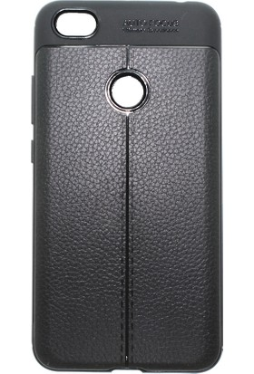 Microcase Xiaomi Redmi Note 5A Prime Leather Effect Silikon Kılıf + Tempered Cam