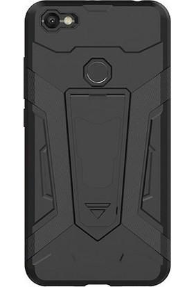 Microcase Xiaomi Redmi Note 5A Prime Hybrid Standlı Kılıf + Tempered Cam