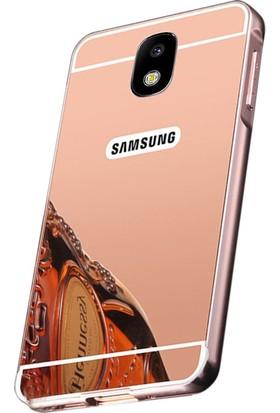 Microcase Samsung Galaxy J5 Pro J530 Aynalı Metal Bumper Kılıf + Tempered Cam