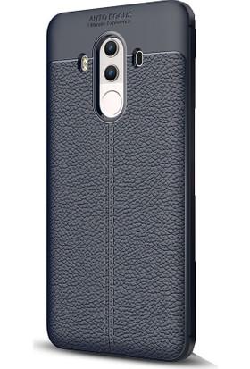 Microcase Huawei Mate 10 Pro Leather Effect TPU Silikon Kılıf + Tempered Cam