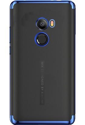 Microcase Xiaomi Mi Mix 2 Plating Series Soft Silikon Kılıf + Tempered Cam