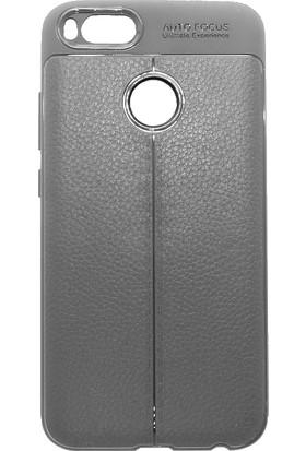 Microcase Xiaomi Mi 5X A1 Leather Effect TPU Silikon Kılıf + Tempered Glass