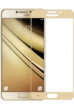 Microcase Samsung Galaxy C7 Pro C7010 Tam Kaplayan Tempered Cam Koruma