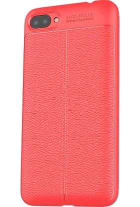 Microcase Asus Zenfone 4 Max ZC554KL Leather Effect Silikon Kılıf + Nano Glass Film