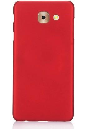 Microcase Samsung Galaxy C7 Pro Slim Sert Köşeli Rubber Kılıf + Tempered Cam