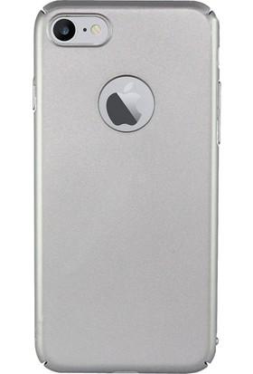 Microcase Apple iPhone 8 Köşeli Sert Rubber Kılıf + Tempered Cam