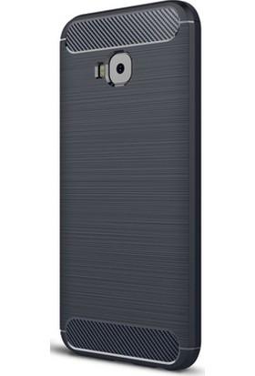 Microcase Asus Zenfone 4 ZE554KL Brushed Carbon Silikon + Nano Glass Film