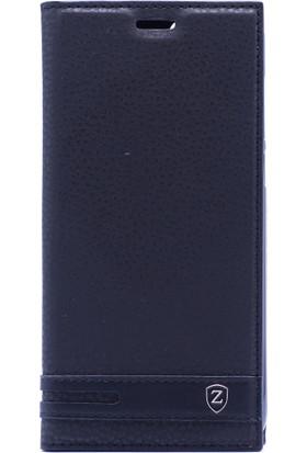 Case 4U Huawei P Smart Kılıf Gizli Mıknatıslı Kapaklı Dolce Kılıf Siyah