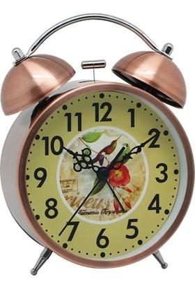Time Gold Çalar Masa Saati Bakır Renk