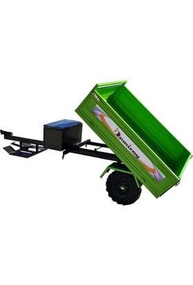 Demiray Yeşil Manuel Damperli Çapa Makinesi Römorku