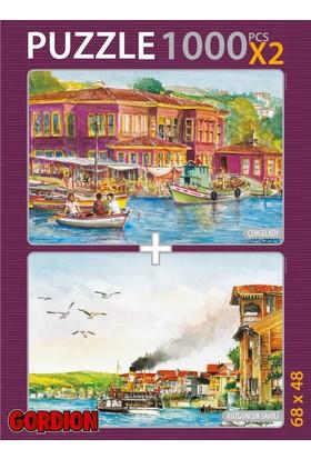 Gordion Çengelköy & Kuzguncuk Sahili 2X1000 Parça Puzzle Takım