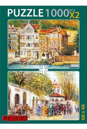 Gordion Sarıyer & Eski Pazar Girişi 2X1000 Parça Puzzle Takım