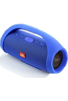 Powerway Mavi Wrx09 Fm/Sd/Bluetooth Özellikli Extra Bass Destekli Hoparlör