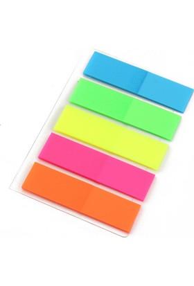 Aso 5 Renk, 100 Adet Yapışkanlı Renkli Ayraç