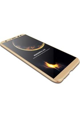 Sonmodashop Huawei Mate 10 Lite Kılıf 360 Tam Koruma Mat Plastik + Nano Cam