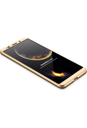 Sonmodashop Huawei Mate 10 Pro Kılıf 360 Tam Koruma Mat Plastik + Nano Cam