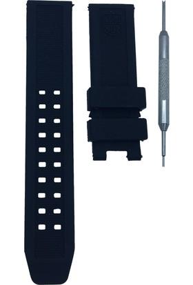 Luminox Evo Navy Seal Uyumlu 23mm Siyah Saat Kordonu