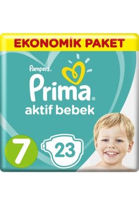 Prima Bebek Bezi Aktif Bebek 7 Beden XX Large Ekonomik Paket 23 Adet