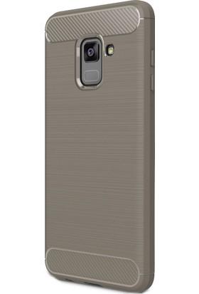 Zore Samsung Galaxy A8 2018 Tam Korumalı Karbon Silikon Kılıf