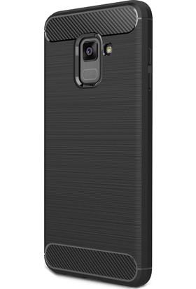 Zore Samsung Galaxy A8 Plus 2018 Karbon Fiber Room Silikon