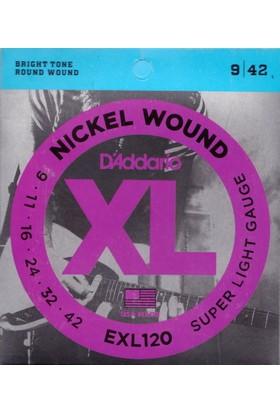 Daddario EXL120 Elektro Gitar Teli