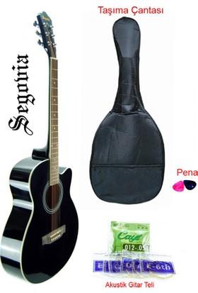 Segovia SGA40BK Cutaway Akustik Gitar