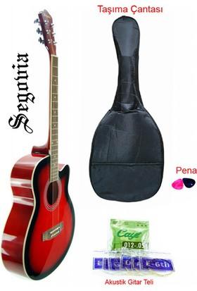 Segovia SGA40RB Cutaway Akustik Gitar