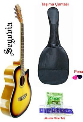Segovia SGA40SB Cutaway Akustik Gitar