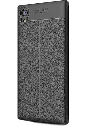 Kny Sony Xperia XA1 Plus Kılıf Deri Desenli Lux Niss Silikon+Nano Cam Koruma