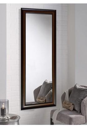Tablo Center 40 x 100 cm Kahve Ahşap Çerçeveli Boy Aynası