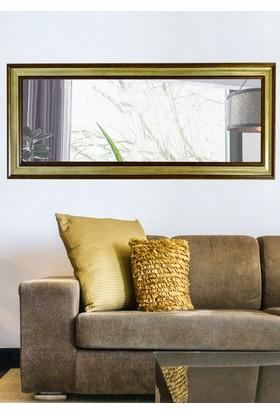 Tablo Center 40 x 100 cm Altın Varak Bronz Çerçeveli Yatay Ayna